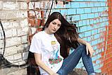 Белая футболка Ripndip Принцесса с котом, фото 3