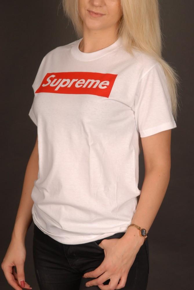 Белая футболка Supreme