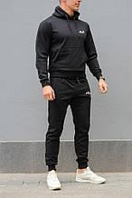 Черный мужской спортивный костюм FILA (Фила), весна-осень (реплика)