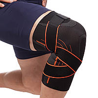 Бандаж коленного сустава, Наколенник эластичный с фиксирующим ремнем (1 шт)