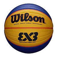 Мяч баскетбольный Wilson Fiba 3x3 r ball размер 6 резиновый для стритбола 3х3 (WTB1033XB), фото 1