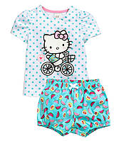 Детский летний комплект Hello Kitty  9-12, 12-18 месяцев, фото 1