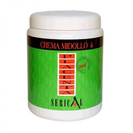 Маска для сухого або пошкодженого волосся Serical Placen з витяжкою бамбука і пшеничною плацентою 1000 мл, фото 2