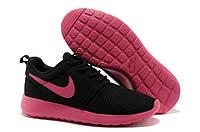 Кроссовки женские беговые Nike Roshe Run (найк роше ран, оригинал) черные