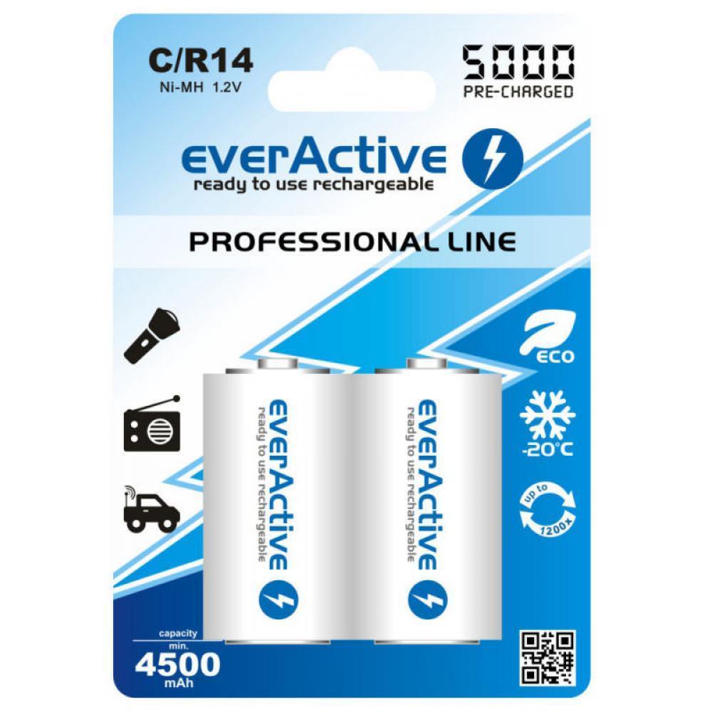 Аккумулятор EverActive EVHRL14-5000, С/R14, 5000 mAh, Ni-MH, блистер 2 шт