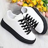 Модные черно - белые женские кроссовки кеды криперы на каждый день, фото 3