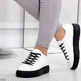 Модные черно - белые женские кроссовки кеды криперы на каждый день, фото 4