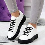 Модные черно - белые женские кроссовки кеды криперы на каждый день, фото 6