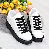 Модные черно - белые женские кроссовки кеды криперы на каждый день, фото 9