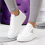 Модные белые серые дышащие женские кроссовки кеды крипперы с перфорацией, фото 5