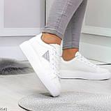 Модные белые серые дышащие женские кроссовки кеды крипперы с перфорацией, фото 6