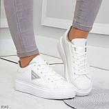 Модные белые серые дышащие женские кроссовки кеды крипперы с перфорацией, фото 8