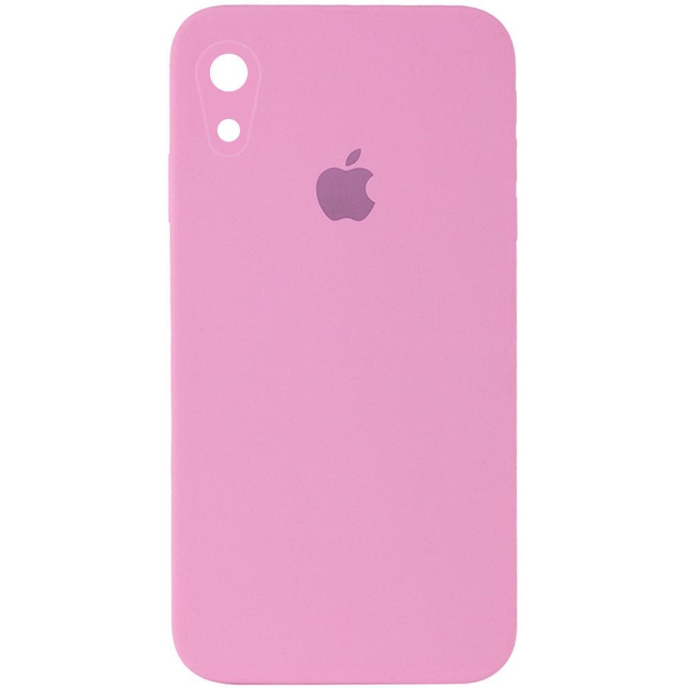 "Чехол Silicone Case Square Full Camera Protective (AA) для Apple iPhone XR (6.1""), Розовый / light pink"