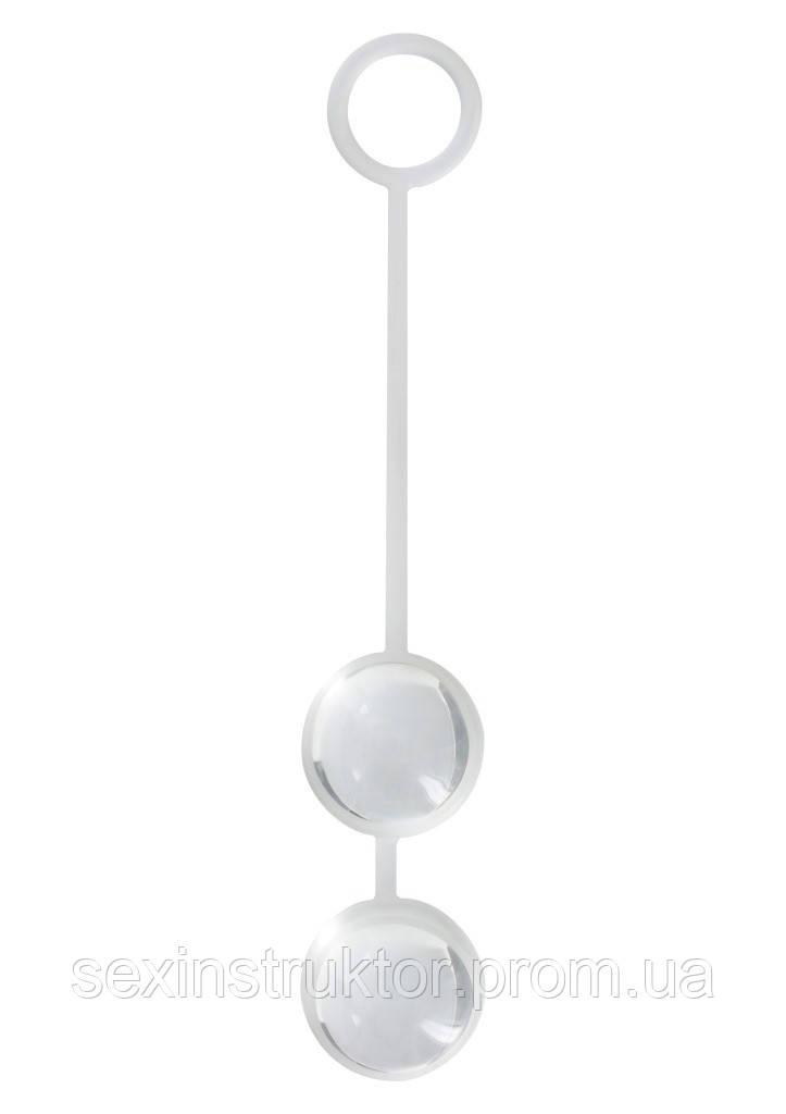 Вагинальные шарики - ToyJoy Duo Love Balls Transparant