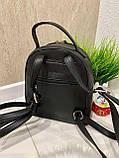 Женский каркасный рюкзак Fashion черный РФ88, фото 9