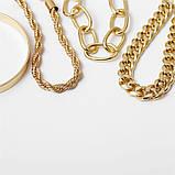 Набор женских золотистых браслетов на руку код 2000, фото 8