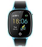 Детские смарт-часы Lemfo HW11 Aqua Plus с камерой и GPS отслеживанием Синий, фото 3