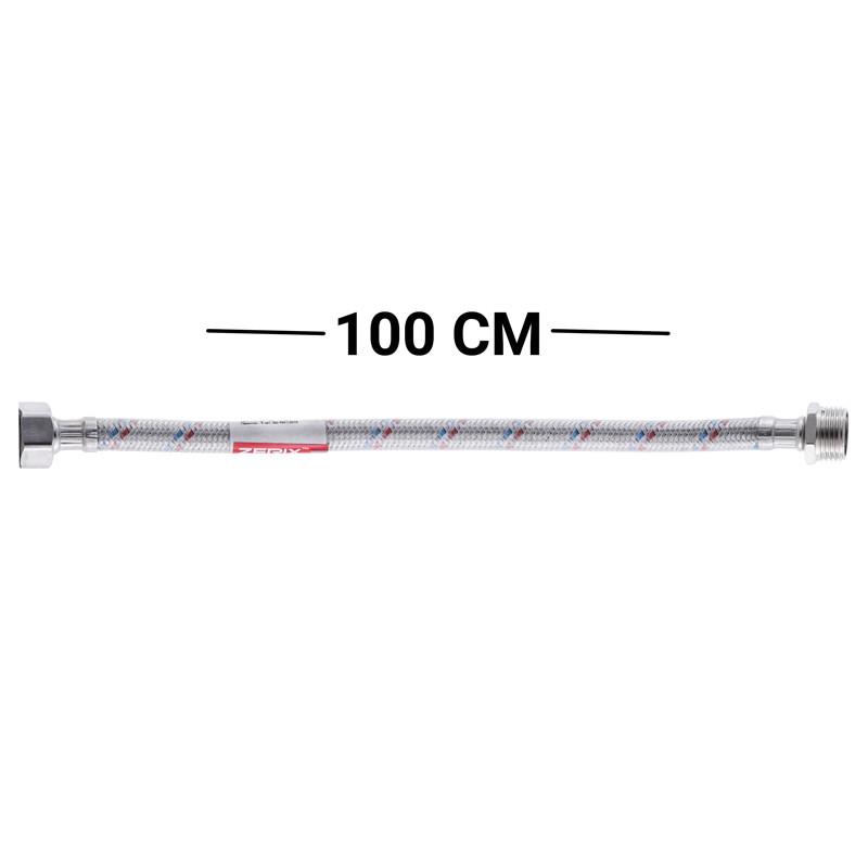Гибкая подводка (шланги в силиконовой оболочке, гайки нержавейка) 1/2'' ГШ-100 см ZERIX (ZX3022)