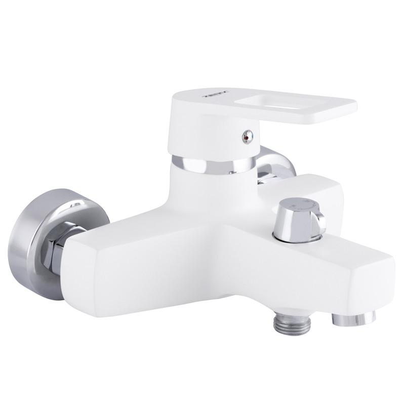 Смеситель для ванны ZERIX Z3030-7 белый (ZX0232)
