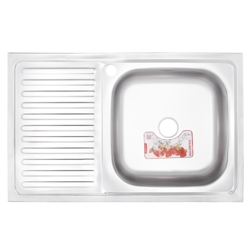 Кухонная мойка накладная ZERIXZ8050R-06-160E (satin) (ZX1613)