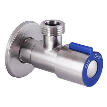 Кран для подключения сантехприборов 1/2x1/2 MIXXUS VAL-01 синий (нерж. сталь) (SS0048)