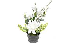 Декоративные цветы в горшочке, 24см, цвет - белый BonaDi DY7-320