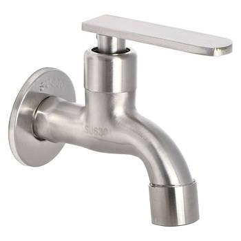Кран для холодной воды ZERIX LR70101 (нерж. сталь) (LL1500)