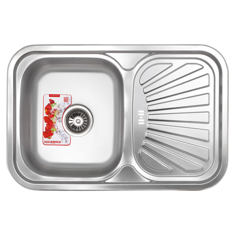 Мойка кухонная ZERIX Z7549-08-180MD (micro decor) (ZS0575)