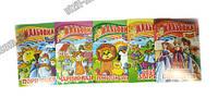 Раскраска-игрушка А4 с цветными наклейками, 8 стр..бумага самоклеющаяся, печать полноцветная; скоба (7203)