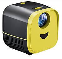 Мультимедийный портативный мини проектор L1 Black (14245)