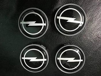 Opel Meriva 2010-2017 гг. Колпачки в титановые диски V2 (4 шт) 55,5 мм