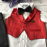 Нарядный костюм, крестильный на мальчика 4. Размер 62 см, 68 см, фото 2