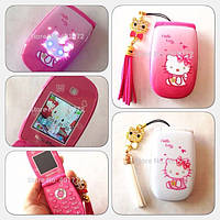 Раскладной телефон хелло китти на 1 сим-карту Hello Kitty W88 1 Sim