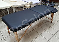 Двухсекционный деревянный складной стол ASPECT черный (NEW TEC)