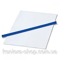 Планки для затиску паперу 10 мм сині (100 шт), фото 3