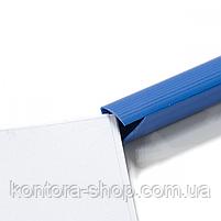 Планки для затиску паперу 10 мм сині (100 шт), фото 4