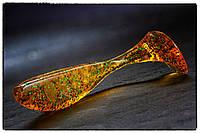 "Силиконовая приманка Fishup Wizzle Shad 3"" #036 Caramel/Green & Black"