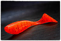 "Силиконовая приманка Fishup Wizzle Shad 3"" #049 Orange Pumpkin/Black"