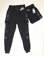 Теплые спортивные мужские штаны с манжетами, трикотаж на флисе, фото 1