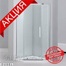 Душевая кабина Dusel А1104, 100х100х190, пятиугольная, стекло прозрачное
