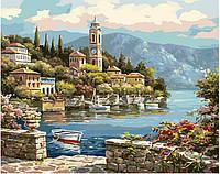 Картина рисование по номерам Brushme Часовня у залива G440 40х50см набор для росписи, краски, кисти холст