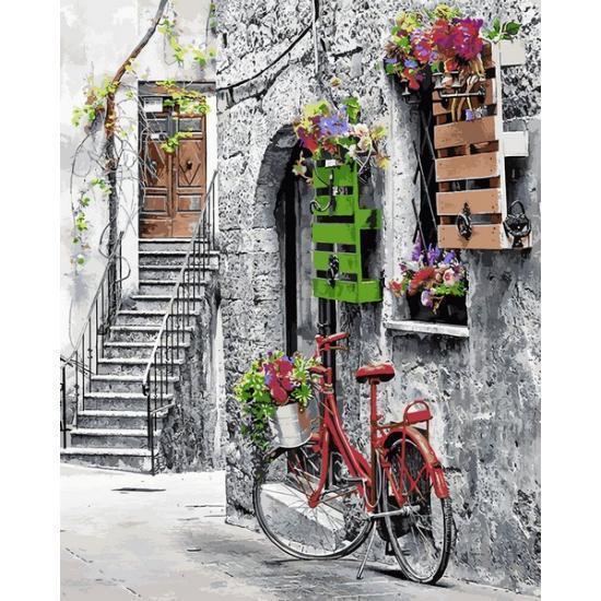 Картина рисование по номерам Mariposa Цветочная улочка Q2242 40х50см набор для росписи, краски, кисти, холст