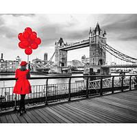 Картина рисование по номерам Mariposa Девушка в красном Q2239 40х50см набор для росписи, краски, кисти, холст