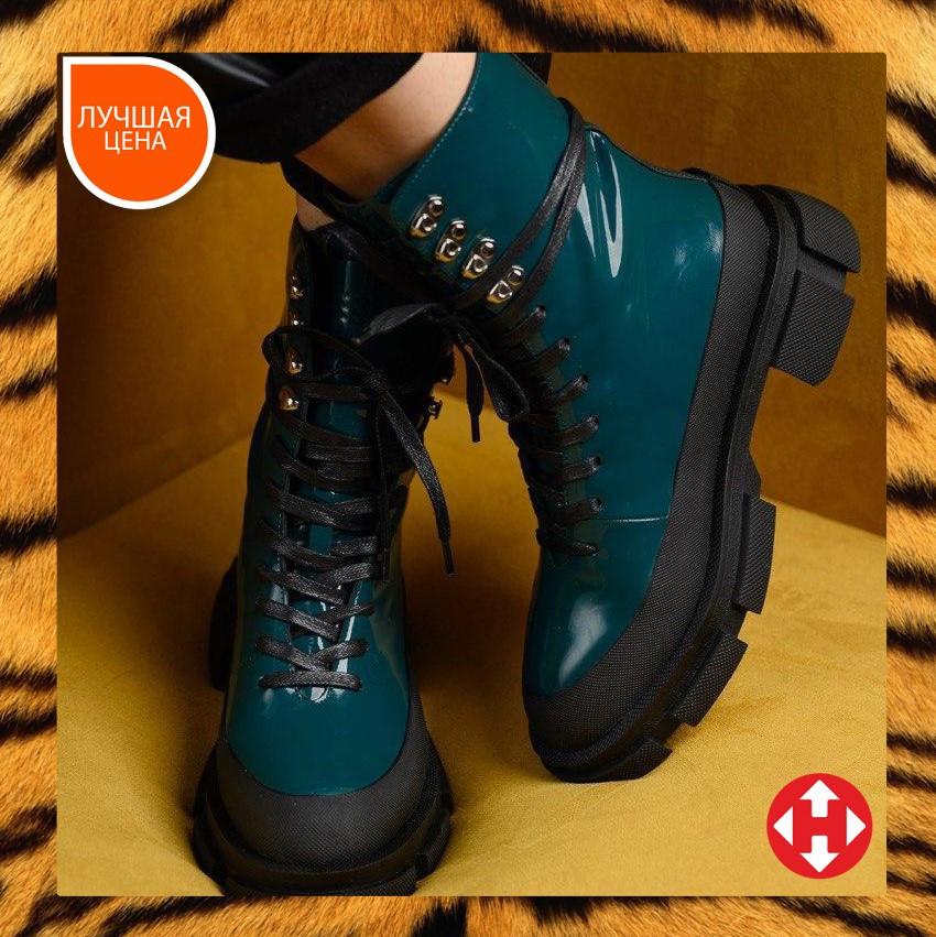 🔥 Ботинки женские демисезонные Both X Lost General высокие темно зеленые Бот лост