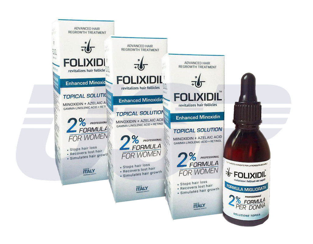 Folixidil 2% (Фоликсидил 2%) миноксидин от выпадения волос облысения для быстрого роста волос