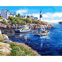 Картина рисование по номерам Mariposa Морская бухта Q2178 40х50см  набор для росписи, краски, холст, кисти