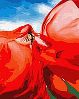 Картина рисование по номерам GX37565 Женщина в красном 40х50см набор для росписи по цифрам, краски, кисти,
