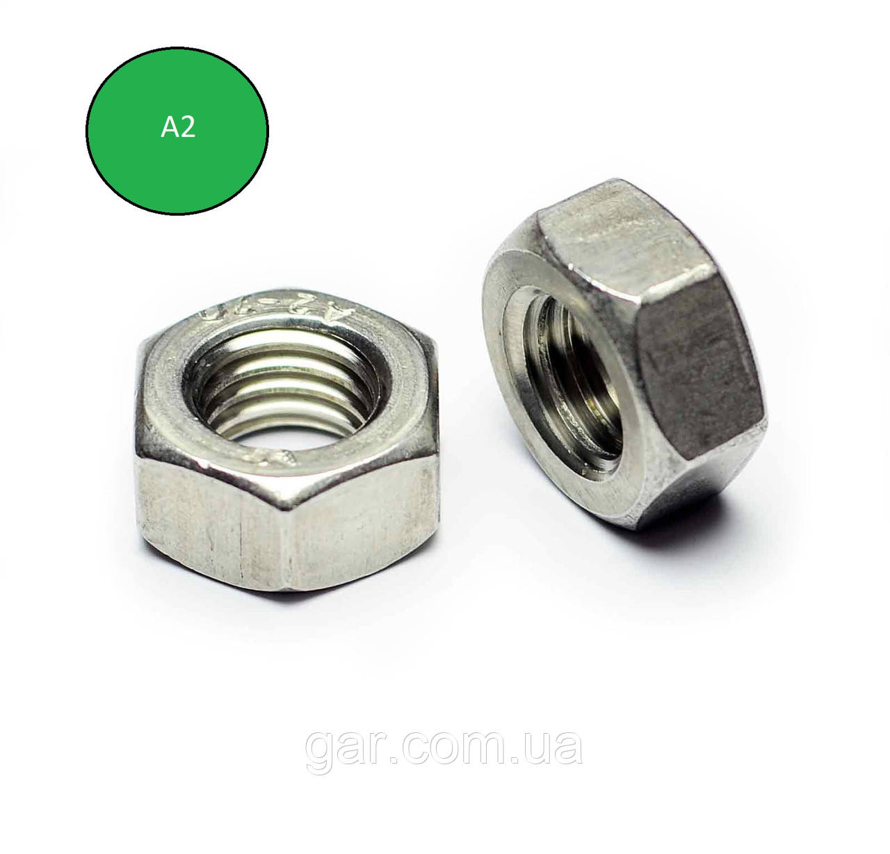 Гайка нержавеющая М1.6 DIN 934 (ГОСТ 5915-70, ГОСТ 5927-70) сталь А2 и А4