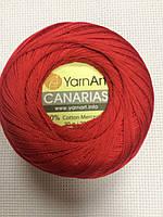 Пряжа Canaries Yarn Art цвет красный