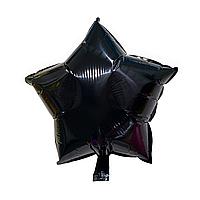 """Фольгированный шар """"Звезда"""" чёрный"""